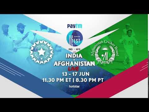 Paytm India Vs. Afghanistan Test On Hotstar