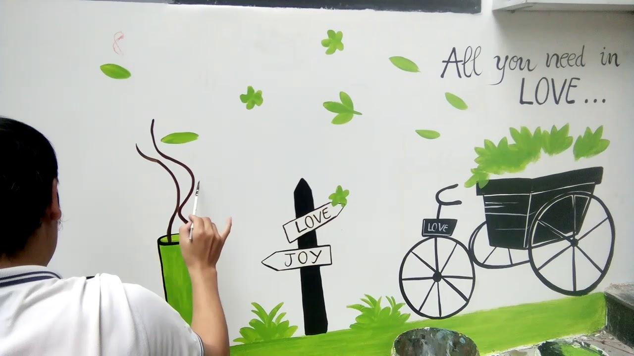 Vẽ tranh tường quán cafe , vẽ tranh tường đẹp.