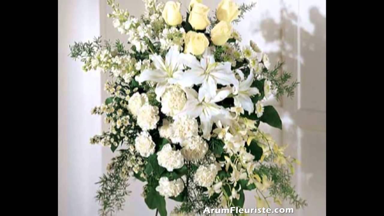 Bien-aimé Funéraire fleurs funerailles - Arum Fleuriste Montreal - YouTube HC84