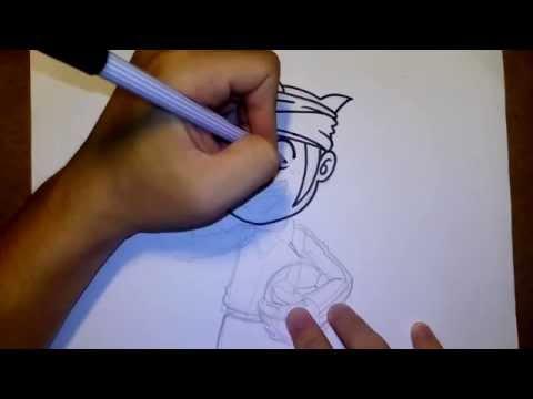 เอนโด มาโมรุ นักเตะแข้งสายฟ้า by วาดการ์ตูนกันเถอะ สอนวาดรูป การ์ตูน