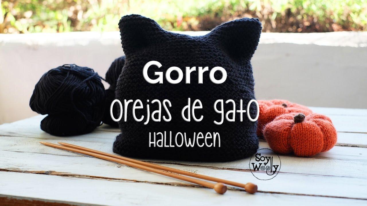 GORRO Orejas de Gato principiantes todas las tallas Kitty Hat Halloween -  YouTube 2473c644f5a