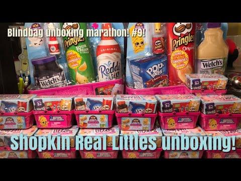 Shopkin Real Littles Unboxing! Blindbag Unboxing Marathon #9!