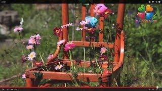 Ландшафтный дизайн своими руками. Подставка для цветов из старого стула(Вот и лето долгожданное наступило. А вместе с ним -- стремление жить за городом, выращивать укроп и цветочки,..., 2014-02-25T09:10:56.000Z)