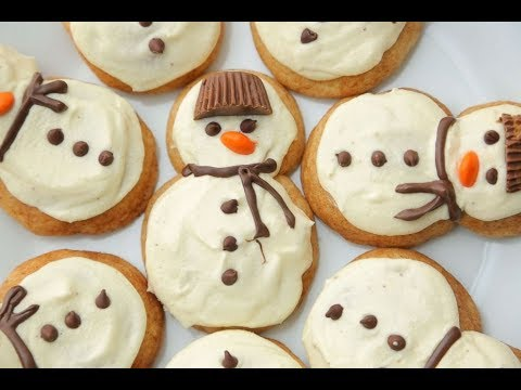 25 Days of Cookies: Half Baked Harvest's eggnog frosted chai snickerdoodle snowmen