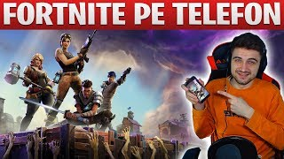 FORTNITE PE TELEFON! - GAMEPLAY