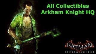 Batman: Arkham Knight All Collectibles - Arkham Knight HQ (HD,60fps)
