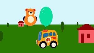 Машинки. Шарики. Развивающие мультики для самых маленьких(Развивающий мультик для малышей от 6 месяцев, где машинки и медведь лопают и считают шарики. Мультик научит..., 2014-07-21T22:17:13.000Z)