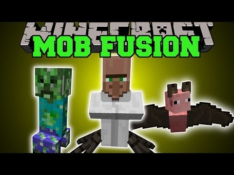 Minecraft: MOB FUSION (COMBINE MOBS TO MAKE CRAZY CREATURES!) Mod Showcase