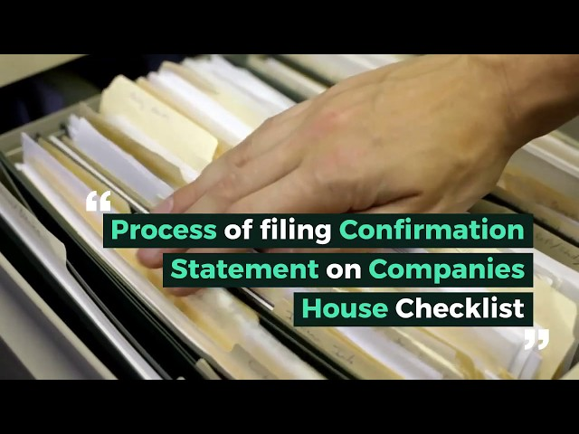 Filing Confirmation Statement on Companies House Checklist