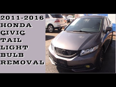 How to replace tail light bulbs in 2011-2016 Honda Civic