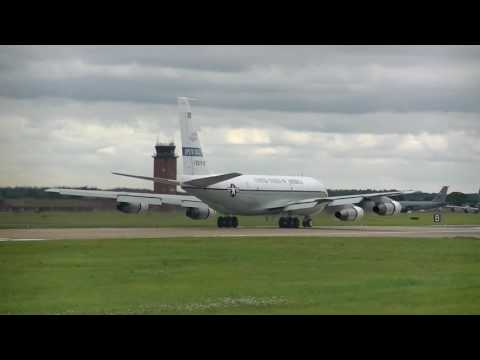RAF Mildenhall 'Open Skies' OC-135B Tech Issue Take-Off 21/8/2017