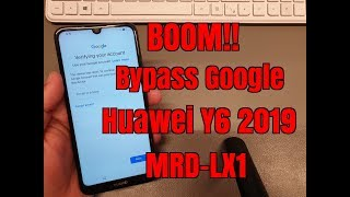 BOOM!!! Huawei Y6 2019 MRD-LX1.Remove Google Account,Bypass FRP.