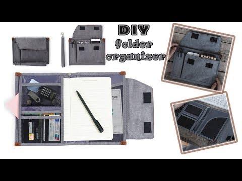DIY FOLDER ORGANIZER BAG IDEA // Adorable Storage  Pouch Bag Tutorial