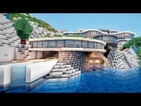 MINECRAFT Enorme Maison Moderne sur une Falaise !:)