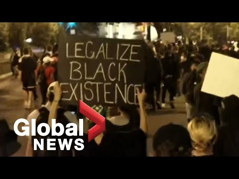 George Floyd protests: Protesters march through Washington, D.C. after Trump issues curfew warning
