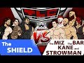WWE TLC 2017 The Shield vs The Miz,Cesaro,Sheamus, Kane and Strowman