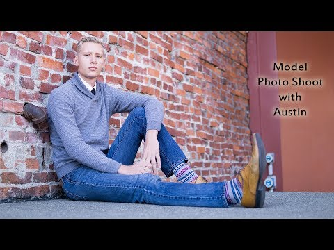 Urban photo shoot with Male Model Austin in Victoria BC