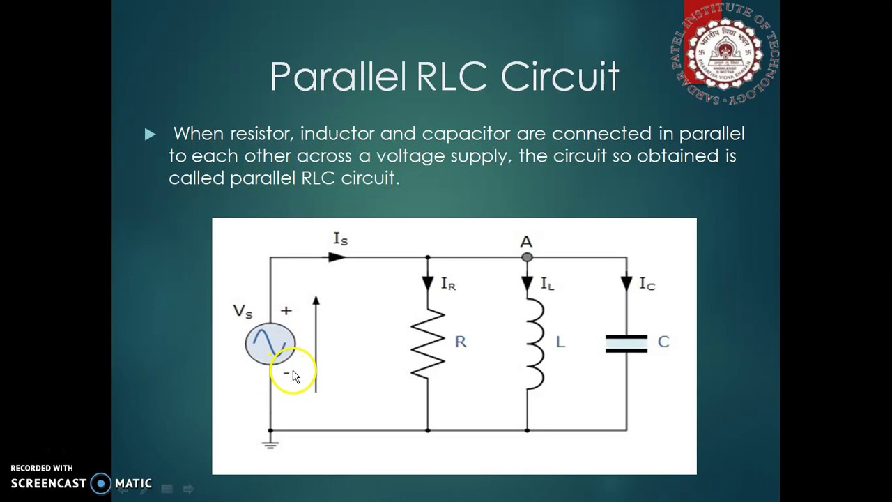 Rlc Parallel Circuits Resonance Youtube A Circuit Diagram