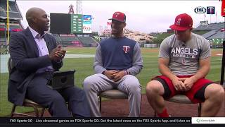 Centerfield sit down: Torii Hunter, Mike Trout and Byron Buxton