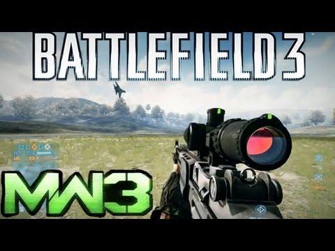 Battlefield 3 Gun Sounds vs Modern Warfare 3
