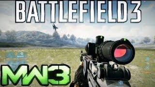 Repeat youtube video Battlefield 3 Gun Sounds vs Modern Warfare 3