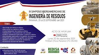 Acto de apertura · IX Simposio Iberoamericano de Ingeniería de Residuos