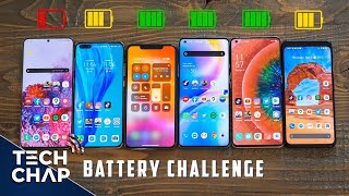 OnePlus 8 Pro vs S20 Ultra vs P40 Pro vs iPhone 11 Pro Max vs Pixel 4 XL BATTERY Test! The Tech Chap