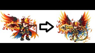 Brave Frontier - Evolving Fire God Vargas ★★★★★ to Holy Flame Vargas ★★★★★★