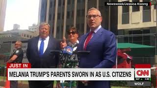 Melania Trump's parents are now US citizens