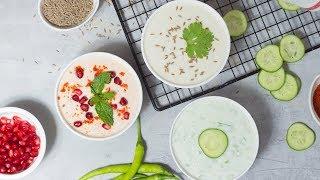 5 मिनट में बनाएं 3 तरह के रायते गर्मियों के लिए | Summer Special 3 Types of Raita |CookingwithSiddhi