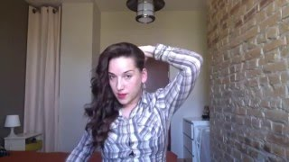Укладка на средние и длинные волосы ГОЛИВУДСКАЯ ВОЛНА