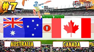 ICC Cricket World Cup 2015 (Gaming Series) - Pool A Match 7 Australia v Canada