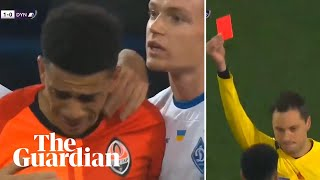 Shakhtar's Taison 'helpless' after being sent off for reaction to racist abuse
