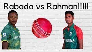 kagiso rabada vs mustafizur rahman bowling , records , wickets , comparison