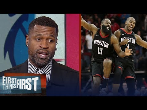 Stephen Jackson on what Harden's slump in Houston's Gm 2 win means for Rockets | FIRST THINGS FIRST