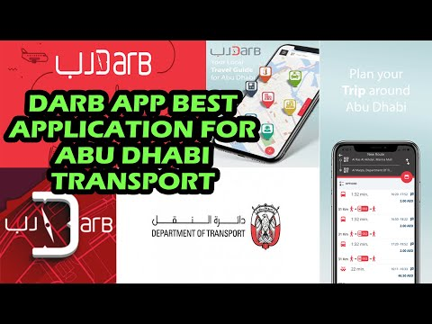 DARB APP IN ABU DHABI   MUST HAVE APP FOR LOCAL TRANSPORT