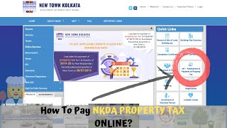 How to Pay NKDA Property Tax Online? - Pay Property Tax  for New Town Kolkata, Development Authority