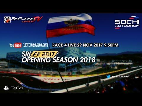 F1 2017 - SRL Opening Season 2018 - RACE 4 | Russian GP LIVE