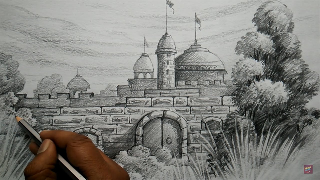 How to draw fort with pencil pencil shading youtube