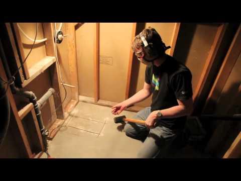 how-to-cut-through-a-concrete-foundation---bathroom-plumbing