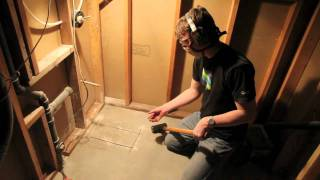 How To Cut Through A Concrete Foundation - Bathroom Plumbing