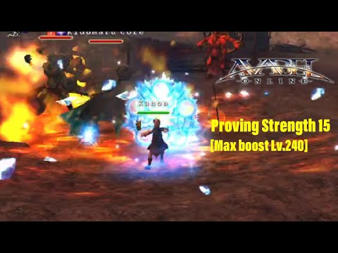 AVABEL ONLINE : Proving Strength 15 [Max Boost Lv.240]
