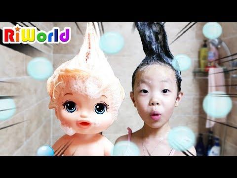 鞎勱赴鞚疙槙鞚� 鞌混柎欤检劯鞖�! 毽洂鞚挫潣 氩犽牆甑柎 鞎勱赴鞚疙槙 氇╈殨 鞛ル倻臧� 雴�鞚� 氇╈殨雴�鞚�  Funny toy shop play. baby doll