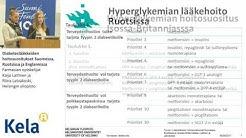 Diabeteslääkkeiden hoitosuositukset Suomessa, Ruotsissa ja Englannissa