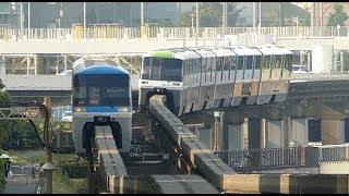 【東京モノレール Tokyo Monorail】1000形 新塗装車と高速すれ違い  大井競馬場前