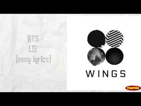 BTS - Lie Lyrics (karaoke with easy lyrics)