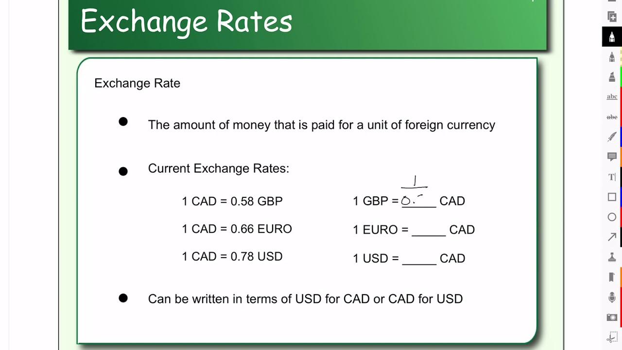 Calculating Exchange Rates You