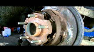 TOYOTA REAR WHEEL BEARING REMOVAL.discs brake type.