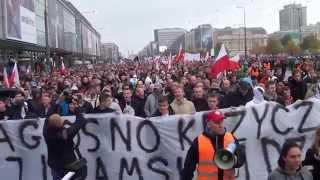 Polacy Przeciw Imigrantom - Cała manifestacja bez cięć Warszawa 12.09.2015 cz.3/7