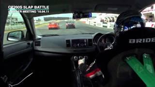EVO X 筑波サーキット57秒台!! HKS CZ200S 5LAP BATTLE【Tsukuba circuit for 57 seconds!!】 thumbnail